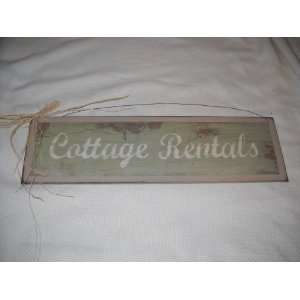Cottage Rentals Wooden Beach House Wall Art Sign: Home
