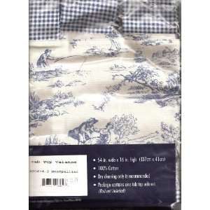Toile Tab Top Valance Home & Kitchen