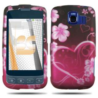 for LG Optimus S SPRINT SMARTPHONE RUBBER BLACK PURPLE WHITE SNAP ON