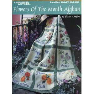 Flowers of the Month Afghan, crochet (Leisure Arts Leaflet #2447