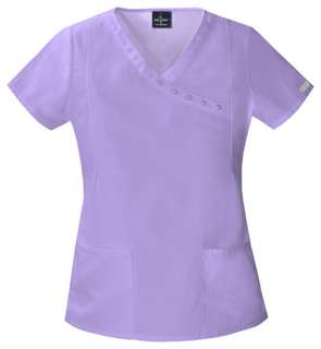 Baby Phat Mock Wrap Top Scrub in Lavender Wave   26908LAVP