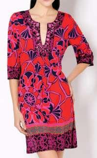 NWT HALE BOB Beaded Print Silk Jersey Dress XS $308 NEW