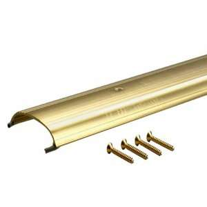 36 Inch TH008 Low Dome Top Threshold, Brite Dip Gold