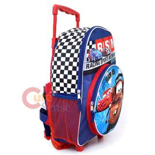 Cars Mcqueen Tow Truck School Roller Backpack L Bag 16