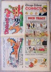 CHICAGO TRIBUNE SUNDAY COMICS 1/18 1970 More and More Dragons