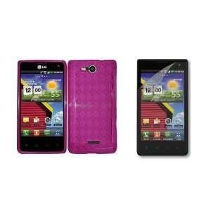 LG Lucid (Verizon) Premium Combo Pack   Pink Checkered TPU