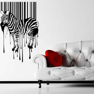 Bar Code Wall Sticker Decal Transfer Stencil Quirky Artwork Barcode