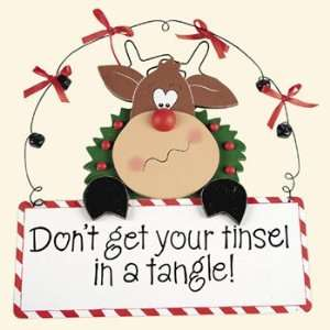 Tinsel in a Tangle Sign   Party Decorations & Wall