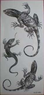 12 packs temporary tattoos,dragon/tiger/lizard/horse