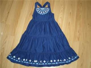 NWT GYMBOREE GREEK ISLE STYLE GIRLS EMBROIDERED DRESS EASTER SZ 5