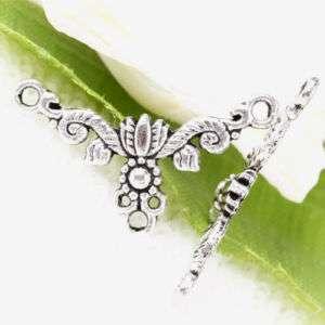 40pc Tibetan Silver Floral Links Connetors F11598