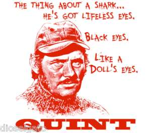 Jaws Robert Shaws Quint Quote T Shirt Shark Movie Buff