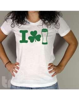 Beer Love St Patricks Day American Apparel Ladies BB301 T Shirt