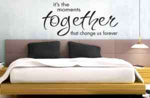 MOMENTS TOGETHER VINYL WALL DECAL BEDROOM DECOR