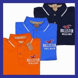 Hollister Mens Logo City Polo Shirt Size S M Style 124