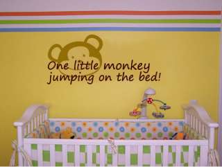 One little monkey jumping on the bed   Vinyl Wall Art Quote Decals