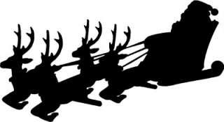 Santa Sleigh Christmas Wall Sticker Vinyl Decal Decor