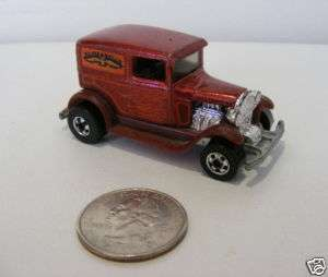 Hot Wheels Early Times Dark Red DELIVERY VAN, 1977
