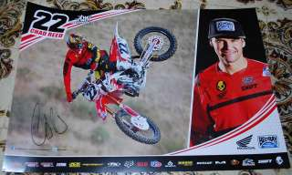 CHAD REED *Signed 2012 TwoTwo Belray Racing POSTER *New