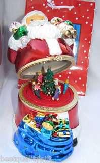 SANTA CLAUSE ANIMATED MUSIC BOX+GIFT BAG~JINGLE BELLS