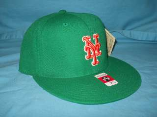 NEW YORK METS ST PATS GREEN MITCHELL NESS CAP HAT 7 3/4