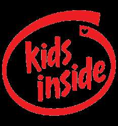 KIDS INSIDE Red Baby on Board Child Car Decal Sticker