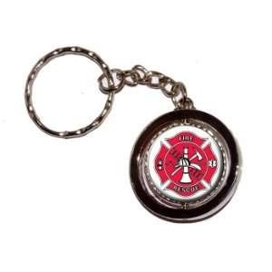 Fire and Rescue Maltese Cross IAFF   New Keychain Ring Automotive