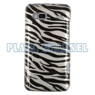 Black Zebra Hard Case Cover Fr HTC Desire Z T Mobile G2