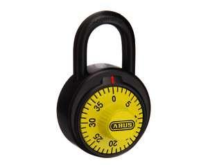 COMBINATION PADLOCK   School Locker Security ( Yellow )