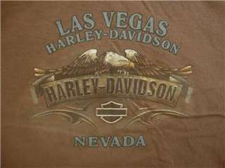 LOT 2 MENS HARLEY DAVIDSON BLACK BROWN SHORT SLEEVE T SHIRTS CLOTHES