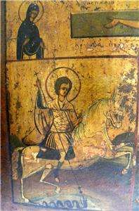 RARE 19c RUSSIAN ICON CROSS CRUCIFIXION OF JESUS CHRIST