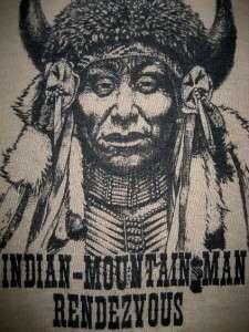 80s INDIAN HEAD Super soft & thin shirt vtg Domiani NATIVE American