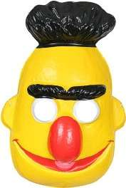 Officially licensed Sesame Street Bert PVC half mask. Mask is thin