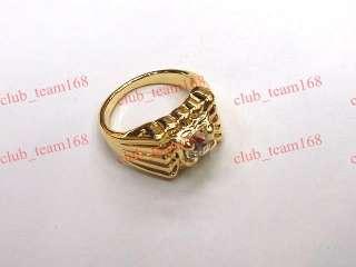 fashion jewelry 50pcs CZ rhinestone gold tone mens rings one box