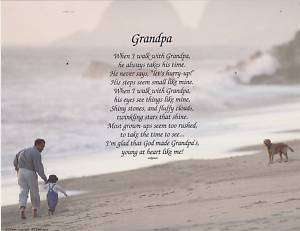 Walking with Grandparents Poem Personalized Name Print