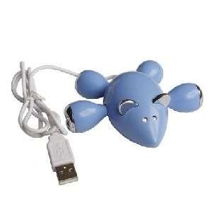 Blue Mouse 4 Port High Speed Mini USB Hub