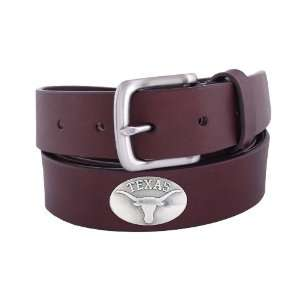 NCAA Texas Longhorns Brown Leather Concho Belt, 34 Sports