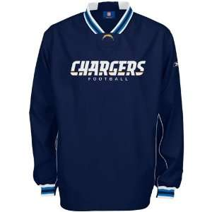 Reebok San Diego Chargers Navy Blue Play Dry Hot Jacket