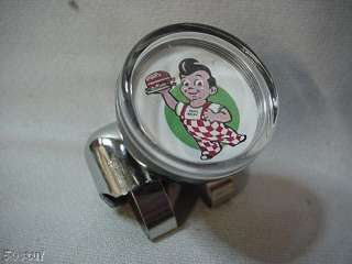 BOBS BIG BOY WITH BURGER SUICIDE STEERING WHEEL KNOB