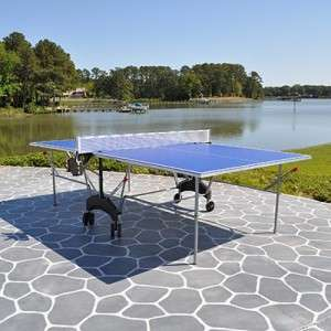 Outdoor Table Tennis Ping Pong Table w/ Raquets and Balls