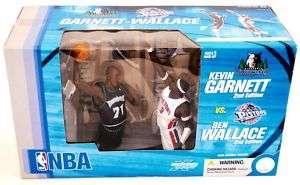 Kevin Garnett vs. Ben Wallace NBA Action Figure Set NEW