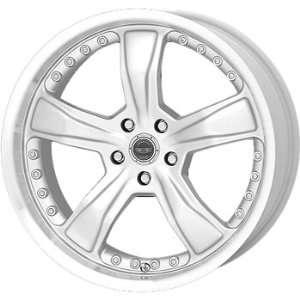American Racing Razor 18x9 Silver Wheel / Rim 5x4.5 with a 40mm Offset