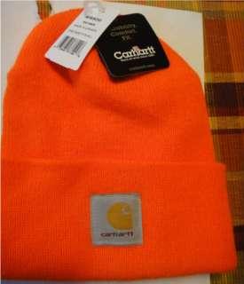 Detroit Red Wings NHL orange beanie logo hat by Carhartt NWT