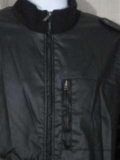 Mens Buffalo David Bitton Black Motorcycle Jacket L