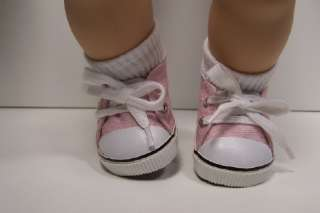 MYSTIC PINK Canvas Tennis Deck Doll Shoes 4 Bitty Baby♥