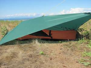 Hooped Bivy Tent & Sil Tarp Emergency Shelter Camp Kit