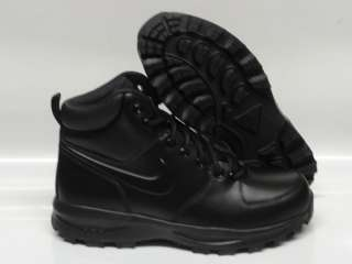 Nike Manoa Leather Black Boots Mens Size 9
