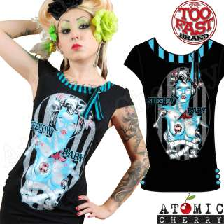 Baby Top Rockabilly Pin Up Punk Zombie T Shirt Tattoo Gothic