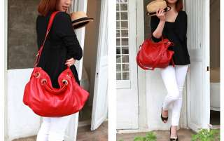 MADE IN KOREA] NEW Genuine Leather Shoulder Tote Hand Bag Purse