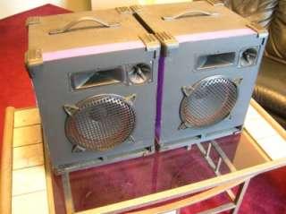 FRAZIER Vintage Horn Loaded Speakers. MODEL CAPSULE